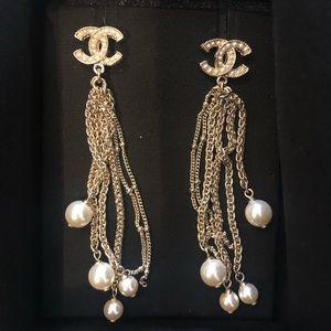 Chanel drop earrings